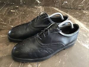 RED WING SHOES 8701 Black Leather Wingtip Steel Toe Work Shoes Size  9.5 EE wide