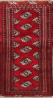 All-Over Geometric Balouch Afghan Oriental Wool Area Rug 2x4 Hand-Knotted Carpet