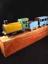 Ancien jouet train sur route N°. 3/2 CR Charles Rossignol + boîte d'origine 1930