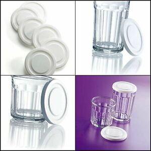 Luminarc, White Working Glass Lids, Set of 6, Set, 1