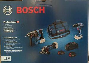 Bosch Professional 3 tlg Prof-Set GSR, GWS & GBH 18V