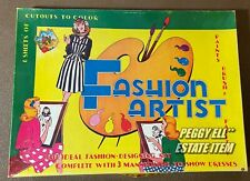 "HTF! 1940'S ONTEX OF CANADA ""FASHION ARTIST & DESIGNING"" 3 PAPER DOLLS w/CLOTHES"