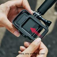 Camera Protective Frame Housing Shell For GoPro Hero 8 with Bracket Black