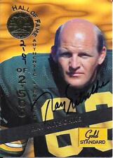 RAY NITSCHKE CERTIFIED AUTO 1994 GOLD STANDARD CARD~FOOTBALL HALL OF FAME~HOF
