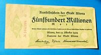 1923 Germany 5 Hundred Million Mark Stadt Altona Banknote