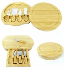 Cheese Board Set Slide Out Drawer With Cheese Knives Round Or Oval Cheese Board