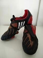 MENS RETRO ADIDAS PREDATORS POWERSWERVE RED & BLACK FOOTBALL BOOTS UK 6 BOYS
