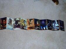 2002 Star Wars POST CARDS Fan-Fold of 10 Original Characters