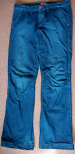 New Mustang 29x34 Long Tall Indigo Cotton Jeans Trousers boot cut Tab Adj Ankle