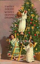 Victorian Christmas Fabric Block Vintage Christmas Tree