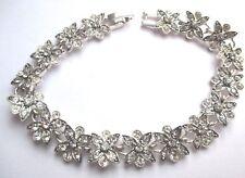 bracelet bijou vintage rétro couleur argent cristaux diamant étoilé 2037