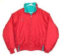 Vintage Columbia Thinsulate Reversible Red Teal Winter Ski Jacket Mens Sz XL EUC