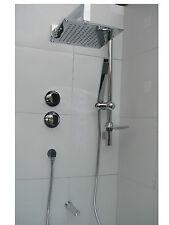 3 manera ducha termostática, cuadrado sobrecarga & De Mano, Bañera Caño Cromado Set 088