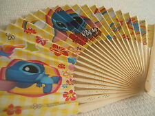 Disney Hand Fan Paper Lilo & Stitch pattern Yellow