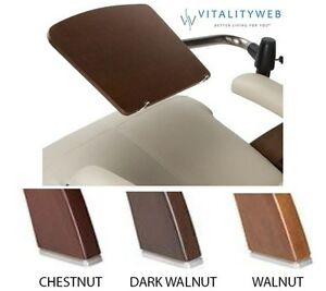 THE NEW PERFECT CHAIR WOOD COMPUTER ADJUSTABLE LAPTOP TABLE ONLY WALNUT WOOD