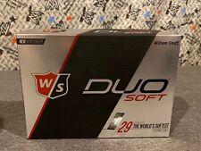 Wilson Duo Soft Golf Balls 12 Pack 2-piece 29 Compression Golfing (White)