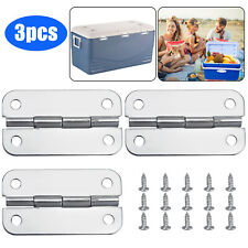 New listing 3Pcs Stainless Steel Cooler Hinges & Screws Replacements for Igloo Cooler Parts