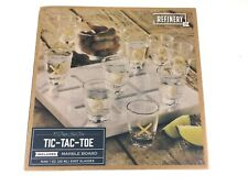Tic Tac Toe Drinking Game Shot Glasses with Marble Board