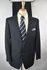 (42R) ERMENEGILDO Zegna Wool CASHMERE Charcoal Gray Blue Stripe Suit