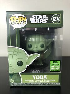 Funko POP! Star Wars Yoda #124 ECCC Exclusive Shared Sticker