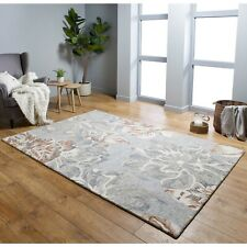 GARDENIA BLOOM FLORAL BOHO STYLE MULTICOLOURED LUXURY WOOL RUG VARIOUS SIZES