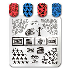 BORN PRETTY Nail Art Stamp Template Movie Cinema Stamping Image Plate Stencil