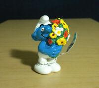 Smurfs 20469 Bouquet Smurf Flowers Anniversary Figure Vintage Toy PVC Figurine