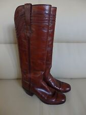 Lucchese Womens Western Boots Lucchese Brown Leather Western Boots Size 6.5