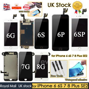 For iPhone 6 6S 7 8 Plus SE2 Screen Replacement LCD Digitizer Touch Home Button