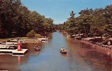 Beulah MI Texaco Gasoline Pump on Dock~Platte River~Betsie State Park 1950s