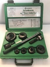 """Greenlee 7238SB Knock Out Punch Set 1/2"""" To 2"""" Conduit - SLUG BUSTER"""