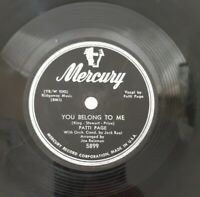 Patti Page 5899 Vtg 50s Record I Went to Your Wedding 1952 You Belong to Me Song