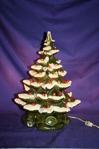 "Atlantic Mold Christmas Tree and base 16"" music box lighted"