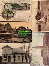114573 5 AK Kiel Bellevue Litho 1903 Fischhalle 1914 Rathaus Schloss
