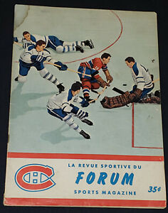 1961 ST CATHARINES vs MONTREAL CANADIENS O.H.A Jr A PROGRAM OROZIER,ESPOSITO,etc
