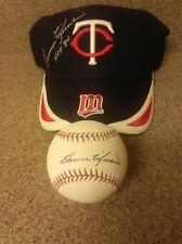 "HOF Harmon Killebrew Autographed Baseball & Hat ""JSA LETTER OF AUTHENTICITY"""
