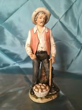 Vintage HOMCO Old Man With Hoe and Potatoes # 8807