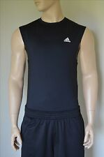 NEW Adidas TechFit Sleeveless Base Layer Compression Shirt Black Tank Tee XXL