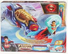 Superman BJK83 Flight Speeders Super-Man 2-in-1 Ship Playset Figure man of Steel