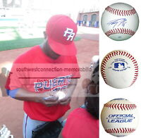 Irving Falu K.C. Royals Signed Autograph Baseball S.D. Padres Brewers Proof COA