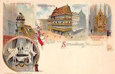 bg19074 Litho Strassbourg Strassburg     france