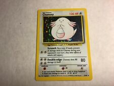 1999 WOTC Pokemon Chansey - Card #3/102 Base Set - Hologram - Near Mint