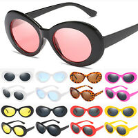 Women Retro Clout Goggles Unisex Sunglasses Rapper Oval Thick Frame Shades Glass