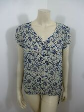 *Lucky Brand* Multi-Color Cap Sleeve See Thru Woman Top Blouse Size S