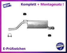 Endschalldämpfer Opel Corsa D E 1.4 55/64/66/74KW Auspuff Montagesatz Chrom