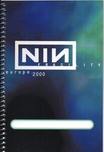NIN - NINE INCH NAILS - TOUR - ITINERARY - 2000 - EUROPE