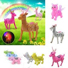 IG_ Electric Walking Singing Musical Light Animal Toy Interactive Baby Kids Toy