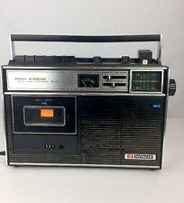 Vintage Hitachi TRK-1271  FM/AM Cassette Recorder -with Condenser Microphone