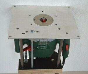 ALU Befestigungsplatte mit Fräslift für Bosch POF 1400- 1200 ACE, Frästisch