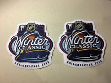 (2) 2012 NHL Winter Classic Jersey Patches New York Rangers Philadelphia Flyers
